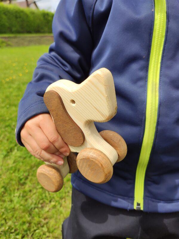 Hafan Rafan dřevěná hračka na kolečkách dite