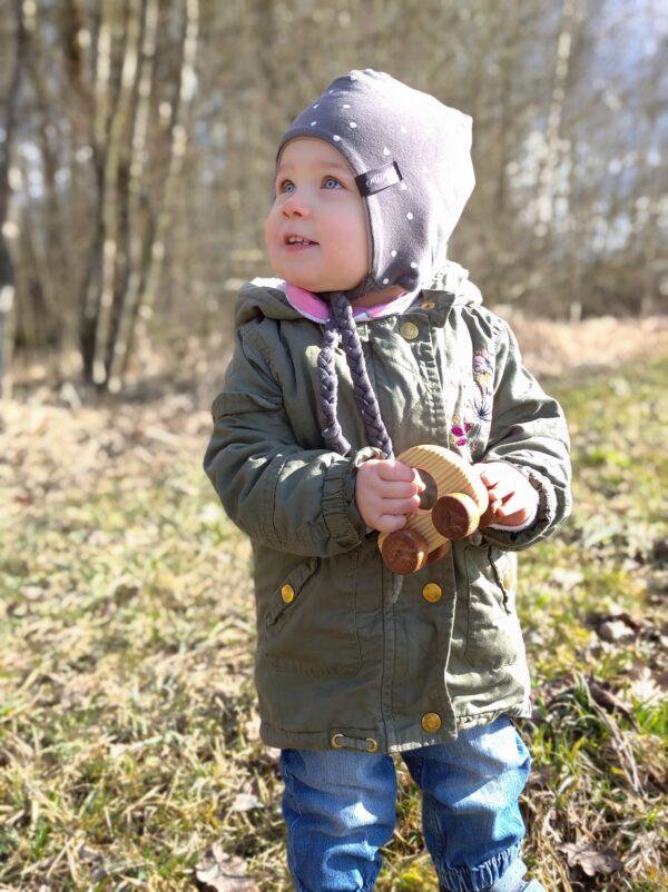 Autíčko Adámek dřevěná hračka na kolečkách dite
