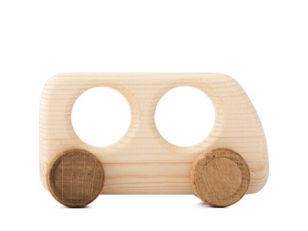 Autíčko Matýsek dřevěná hračka na kolečkách 2