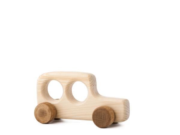 Autíčko Ondrášek dřevěná hračka na kolečkách