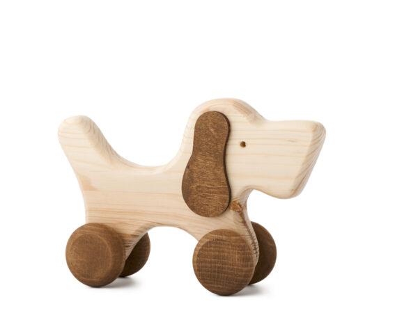 Hafan Rafan dřevěná hračka na kolečkách
