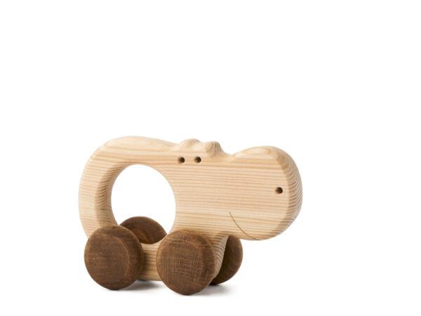 Hrošice Alice dřevěná hračka na kolečkách