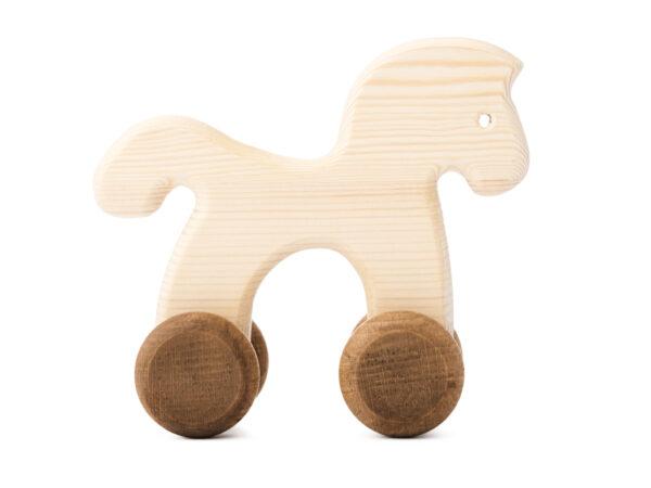 Koníček Janíček dřevěná hračka na kolečkách 2